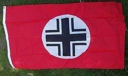 Bandera Balkenkreuz. Whermacht. Alemania. 2ª Guerra Mundial. 1939-1945. Réplica - Banderas