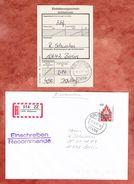 Einschreiben Reco, EF Neues Tor Neubrandenburg, Selbstklebendes R-Label Koelpinsee, Nach Berlin 1997 (37925) - Etiquettes 'Recommandé' & 'Valeur Déclarée'