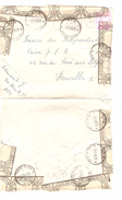 TP 1067 Baudouin Lunettes S/L.accidentée Et Réparée à Ath 1/9/1965 V.Bruxelles AP1020 - Poststempel