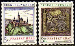 12165 Tchecoslovaquia 2179/80 Castelo De Praga Nnn
