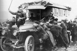 Militaria WW1 -  Voiture Du Cinéma Aux Armées En Panne - 1914-18