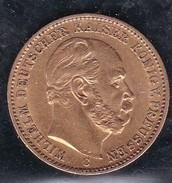 OR / GOLD  :  ALLEMAGNE  PRUSSE  20  MARK  KAISER  WILHELM  II  -  1874  - (  2  SCANS  R° V°  ) . - [ 2] 1871-1918 : Empire Allemand