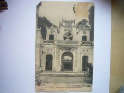 CPA Vietnam Indochine Tonkin - Hanoi - Entrée De La Pagode Du Grand Bouddha 1912 - Vietnam