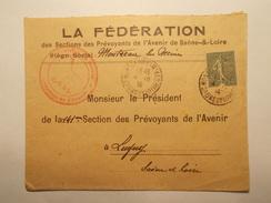 Marcophilie  Cachet Lettre Obliteration Timbre - Entête Professionnelle MONTCEAU LES MINES 1919 (962) - Marcophilie (Lettres)