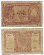 Italia - Italy 100 Lire 1951 Pick 92.a Ref 1127 - [ 2] 1946-… : Républic