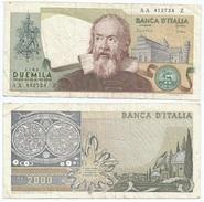 Italia - Italy 2.000 Lire 1976 Pick 103.b Ref 278 - [ 2] 1946-… : Républic