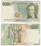 Italia - Italy 5.000 Lire 1985 Pick 111.b Ref 501 - [ 2] 1946-… : República