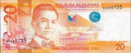 PHILIPPINES P206 20 PISO 2016 2016G Prefix BH   UNC. - Philippines