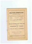 ANGLETERRE LORRAINE ALSACE SERVICES QUOTIDIENS CHAQUE SENS DUNKERQUE ET TILNURY DES TRAINS 1929 - Chemin De Fer