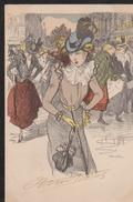 CPA:Steinlen:Série Les Faubouriennes - Illustrateurs & Photographes