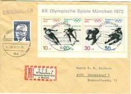 GERMANY R Cover With Label 84 Regensburg 2 Olympische Spiele 1972 In München - Verano 1972: Munich