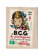 Vignette B.C.G. Comité De Défense Contre La Tuberculose Delrieu 1966-1967 Jean Adrien Mercier - Erinnophilie