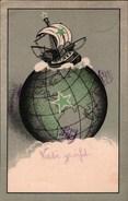 ! 1924 Esperanto Postkarte, Verlag Ader & Borel, Dresden, Stempel Blankenese - Esperanto
