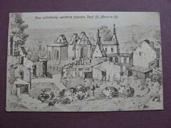 """CPA 51 SAINT MARIE A PY Dessin D'un Soldat """" Poilu """" GUERRE 1914 1918 - France"""