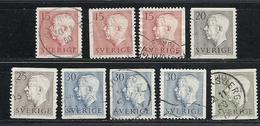 Schweden, 1957, Michel-Nr. 424-428 A+D, Gestempelt