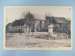 CPA 23 ROUGNAT LE MONUMENT AUX MORTS ET EGLISE - France