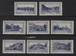 8 Vignettes - Troupes Metropolitaines - Engagez Vous - France Lorraine Vosges Alsace - Commemorative Labels