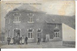 """Braives - Brivioulle-Braives - Maison Vve Régismont """"Café Des Bons Amis"""" Animée - Ecrite - Braives"""