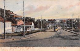 "D5818 ""MOZAMBICO - LOURENCO MARQUES - DELAGOA BAY - AVENIDA AGUIAR""  ANIMATA, TRAMWAY. CART NON SPED - Mozambico"
