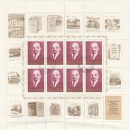 NOYTA CCCP - RUSSIE - FEUILLET COMPLET 8 TIMBRES + VIGNETTES - 100 ANS DE LENINE 1870-1970 /8