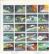 FIJEIRA - FEUILLET DE 20 TIMBRES ESPACE - 15.6.72 /TB - Space