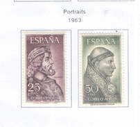 Spagna 1963 Ritratti Valori N.02 Scott.C175/176+ See Scans - Poste Aérienne