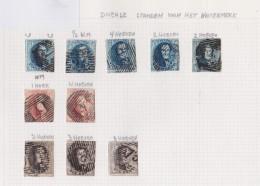 Belgie   .    Pagina    Met Zegels    OBP  6/8 - 1851-1857 Médaillons (6/8)