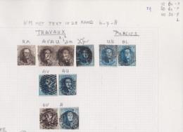 Belgie   .    Pagina    ( 2  Scans )   Met Zegels    OBP  6/8 - 1851-1857 Médaillons (6/8)