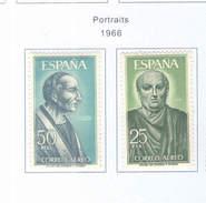 Spagna 1966 Ritratti Valori N.02 Scott.C177+178+ See Scans - Unused Stamps