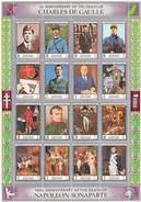 MANAMA - FEUILLET DE 20 TIMBRES Ist ANNIVERSARY DEATH GENERAL DE GAULLE-150th ANNIVERSARY DEATH NAPOLEON BONAPARTE-1 /TB - De Gaulle (Général)
