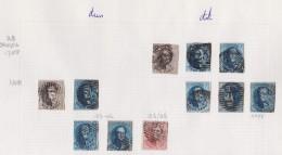 Belgie   .    Pagina    ( 2  Scans )   Met Zegels    OBP    10/16 - 1851-1857 Médaillons (6/8)