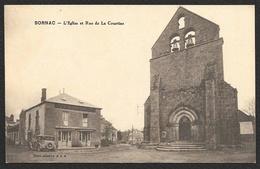 SORNAC L'Eglise Et Rue De La Courtine (Combier) Corrèze (19) - Other Municipalities
