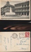 12119) GENOVA PIAZZA DE FERRARI FONTANA PALAZZO ITALIA NAVIGAZIONE FLOTTE RIUNITE VIAGGIATA 1937 - Genova