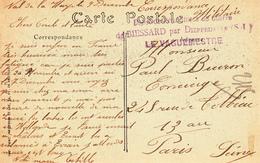 CP De VAL DE LA HAYE Avec Cachet Dépot De Prisonniers Du Guerre / De BIESSARD Par DIEPPEDALLE (S.I) / LE VAGUEMESTRE - Marcofilia (sobres)