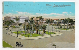 (RECTO / VERSO) CUBA EN 1929 - HABANA - PARQUE DE LA FRATERNIDAD - FORMAT CPA VOYAGEE - Other