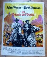 Affiche De Cinéma - Les GEANTS De L'OUEST - 45x57 Cm - John WAYNE, Rock HUDSON - Other Collections