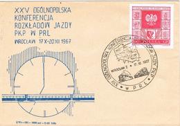 24265. Carta WROCLAW (Polska) Polonia 1967. Ferrocarril, Tren, Eisenbahn