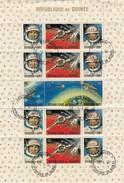 REPUBLIQUE DE GUINEE- FEUILLET DE 16 TIMBRES ESPACE - CONAKRY 1.9.65 - 1 /TB - Space