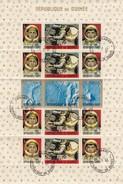 REPUBLIQUE DE GUINEE- FEUILLET DE 16 TIMBRES ESPACE - CONAKRY 1.9.65 - GEMINI 5 AUGUST 21-29 1965 120 ORBITS - 3 /TB - Space