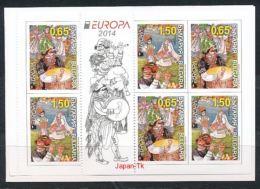 BULGARIEN Mi.NR. 5157-5158 MH 14   Europa - Volksmusikinstrumente -2014 - MNH - 2014