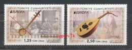 TÜRKEI Mi.NR. 4107-4108 Europa - Volksmusikinstrumente -2014- MNH - 2014