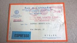 ITALIA 1952 PARMA BUSSETO AFFRANCATURA MECCANICA ROSSA - EMA - Affrancature Meccaniche Rosse (EMA)