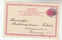1909 Halmstad SWEDEN Postal STATIONERY CARD Cover Stamps - Postal Stationery