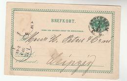 1893 Stockholm SWEDEN Postal STATIONERY CARD To LEIPZIG GERMANY Cover Stamps - Postal Stationery