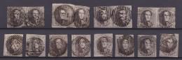 Belgie   .     OBP     6    16x      .        O        .      Gebruikt   .   /    .   Oblitéré - 1851-1857 Médaillons (6/8)