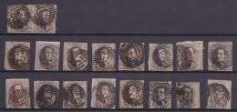 Belgie   .     OBP     6     18x      .        O        .      Gebruikt   .   /    .   Oblitéré - 1851-1857 Médaillons (6/8)