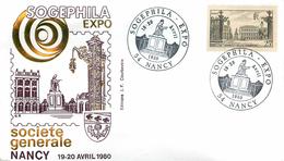 EXPOSITION PHILATELIQUE SOGEPHILA EXPO NANCY 1980 - Expositions Philatéliques