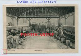 VIEVILLE (sous Les Cotes-!?)-LAVOIR-CARTE Imprimee Allemande-Guerre 14-18-1 WK-FRANCE-55-Feldpost- - France