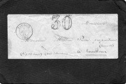 FRANCE 1861 TANINGES COMBLOUX BONNEVILLE SALANCHES PIERRE MILLION - Marcophilie (Lettres)