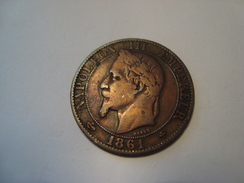 MONNAIE 5 CENTIMES NAPOLEON III 1861 BB - C. 5 Centimes